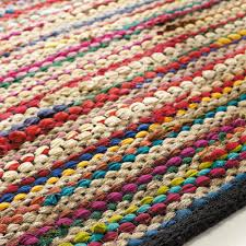 teppich kinderzimmer flechtteppich roulotte aus baumwolle 140 x 200 cm bunt teppich