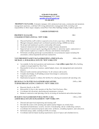 Sample Real Estate Resume Resume Property Manager Resume Samples
