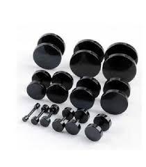 titanium stud earrings black titanium steel ear studs men s earrings with the dumbbell