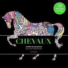COLLECTIF  Chevaux  carnet de coloriage  Art techniques  BOOKS