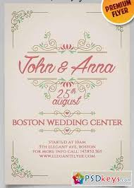 wedding invitations psd vintage wedding invitation flyer psd template cover
