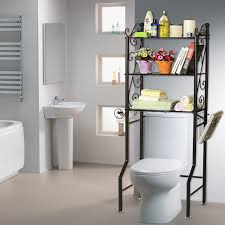 over the toilet bathroom storage shelves lavish home design