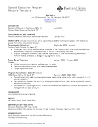 Special Education Resume Examples Example Resume For Special Education Assistant Augustais