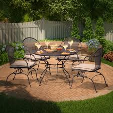 rod iron patio furniture home and garden decor