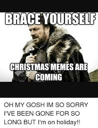 Meme Brace Yourself - brace yourself christmas memes are coming oh my gosh im so sorry i