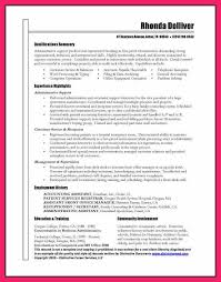 Administrative Sample Resume by Professional Resume Samples Bio Letter Format