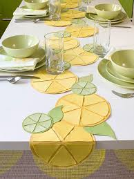 do it yourself project make a citrus themed table runner
