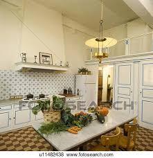 cuisine brun et blanc images légumes sur marbre table dans cuisine à brun et