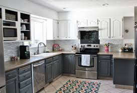 White Kitchen Cabinets With Gray Granite Countertops Hardwood Countertops Grey Granite Countertop White Double Doors