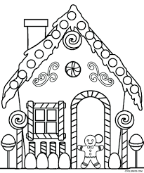 gingerbread house template print printable coloring pages sheets