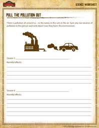 pollution worksheet u2013 free science printable for 3rd grade u2013 jumpstart