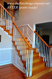 charming wainscoting ideas with wooden stairs for home interior