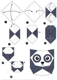 origami panda step step instructions free
