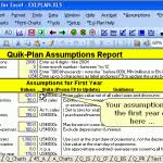 business plan excel template business financing template free