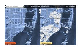 Maps New York Climate Change See How Much Of Miami New Orleans And New York Will Be Underwater Be