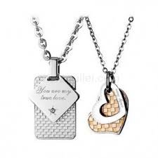 engraved necklaces for matching couples pendants necklaces jewelry gifts sets for two