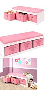 Storage Bench Kids Benches 183321 Kids Storage Bench Bedroom Girls Pink Play Room
