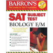 barrons sat subject test biology e m 2nd edition by deborah t and