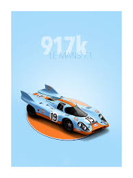gulf porsche 917 classic u0026 iconic racing cars last corner prints paris