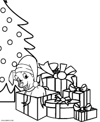 puppy christmas coloring pages coloring