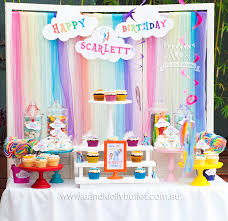 themed dessert table s my pony rainbow dash themed 5th birthday party