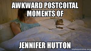 Cat Buy A Boat Meme - awkward postcoital moments of jennifer hutton i should have bought