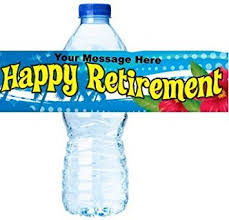 Decorate Water Bottle Amazon Com Happy Retirement Party Decorations Water Bottle