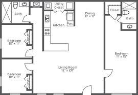 1 bedroom garage apartment floor plans 1 bedroom 1 bath apartments