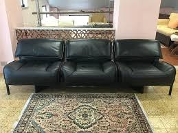 cassina divano divano nero in pelle di cassina arredamento e casalinghi in