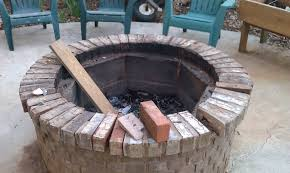 home design square fire pit grill ideas stone landscape