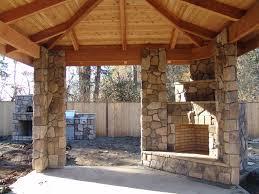 download corner outdoor fireplace garden design