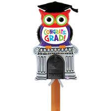 graduation sign congrats grad owl mailbox balloon graduation party sign distinctivs