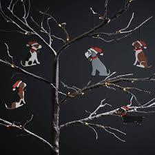 grey schnauzer tree decoration by sweet william