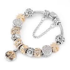 bracelet with charm images Missita vintage silver color charm bracelet with tree of life jpg