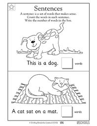 kindergarten preschool math reading worksheets sentences 1