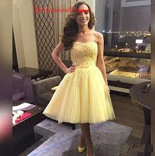 where to buy graduation dresses click to buy cheap yellow knee length homecoming dresses