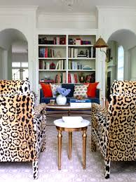 Leopard Chairs Living Room - Printed chairs living room