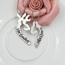 buck and doe couples necklace buck doe necklace back country world