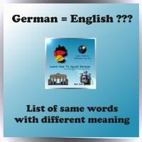 same words different meanings same word but different meaning english german