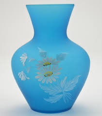 Hand Painted Vase Westmoreland Hand Painted 7