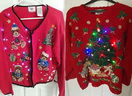 12 ugly funny u0026 tacky christmas lighted sweater vest patterns