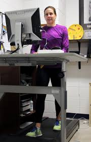 Standing Treadmill Desk by Faculty Members Introduce Treadmill Desks Into Offices Work