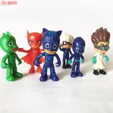 6pcs pj masks catboy owlette gekko action figure kids