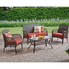 Walmart Mainstays Patio Set Mainstays Cambridge Park 4 Piece Outdoor Conversation Set Seats 4