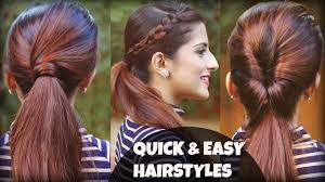 easy indian hairstyles for school 1 min everyday effortless hairstyles with ponytails for school