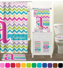 colorful chevron bathroom accessories set personalized potty