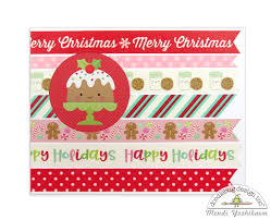 snippets by mendi doodlebug milk u0026 cookies washi tape christmas cards