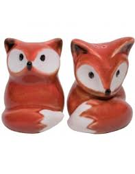 fox salt and pepper set unique gifts shop colorful gifts