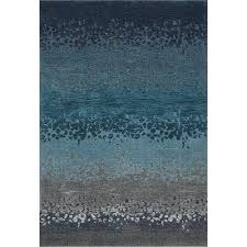 Area Rug Blue 8 X 11 Large Ombre Blue And Gray Area Rug Geneva Rc Willey