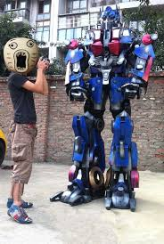 transformers optimus prime is 2 7 meters real cos armor clothes